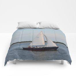 Nantucket Sail boat Comforters