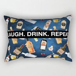 LAUGH. DRINK. REPEAT. (B) Rectangular Pillow
