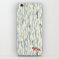 wood iPhone & iPod Skins featuring Winter Wood by littleclyde