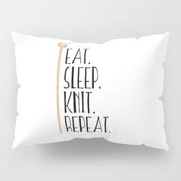 Eat Sleep Knit Repeat Pillow Sham