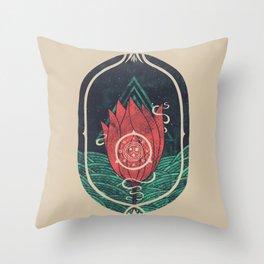 Pulsatilla Patens Throw Pillow