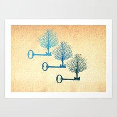 Tree Keys Art Print