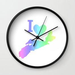I Love Nova Scotia Pastels Wall Clock