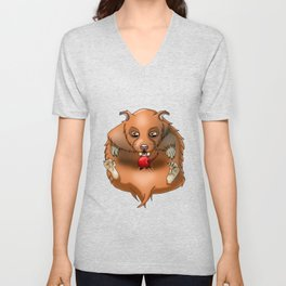 Lazy Hamster Unisex V-Neck