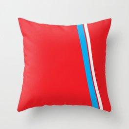 Red Slant Throw Pillow