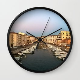 the little habour Wall Clock