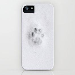 Kattepote i snøen iPhone Case