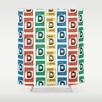 detroit Shower Curtains featuring Detroit Uno by Rebecca Goldberg
