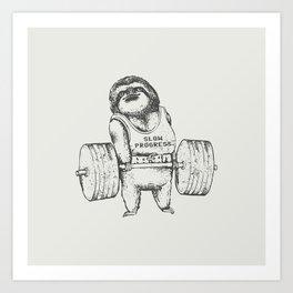 Sloth Lift Art Print