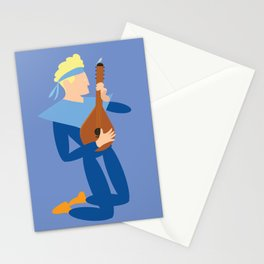 Apollo the music boy and the bird Stationery Cards