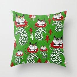 Kittens in Mittens Throw Pillow