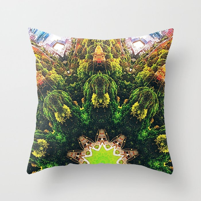 Riverdale Park Toronto Skyline Canada Throw Pillow By Adamquang