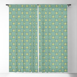 The Neighborhood Buzz - Light Green Blackout Curtain