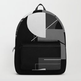 Abstraction Black Backpack
