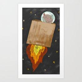 Astro-cat Art Print