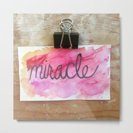 miracle watercolor print Metal Print