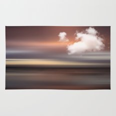 SEASCAPE - abstract landscape in glowing copper tones Rug