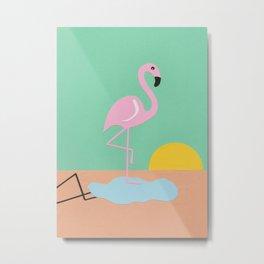 Flamingo Herbert Metal Print