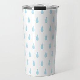 drops pattern blue Travel Mug