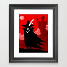Vampire Hunter D on Pixel Framed Art Print