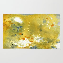 Abstract Acrylic Painting YELLOW Rug