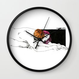 PinkHair Wall Clock