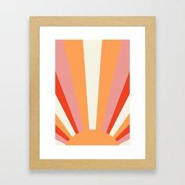 Geometric Landscape   Sunrise Sunset Sun Print Printed Wall Art Large Poster Home Decor Poster 24x36 Framed Art Print