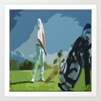 golf Art Prints featuring GOLF by aztosaha