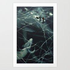 Casual Fishing Art Print