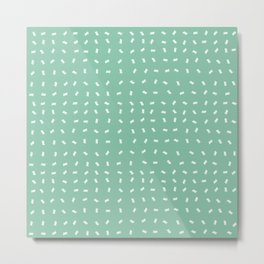 Minty Fresh Confetti Party Metal Print