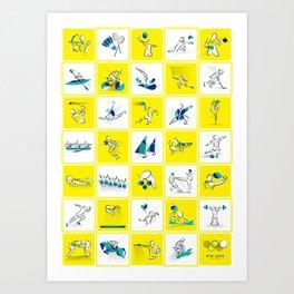 Summer Olympics Art Print