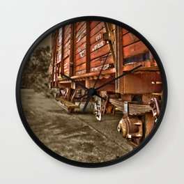 Road less traveled- old train Wall Clock