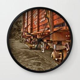 Road less traveled- old train Wall Clock