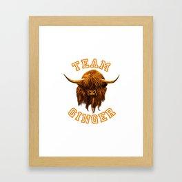 Team Ginger Framed Art Print