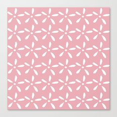 White flowers on pink Canvas Print