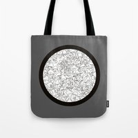 mirror Tote Bags featuring Mirror by 5wingerone