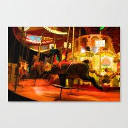 Midnight Carousel Ride Canvas Print