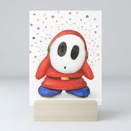 Confused Shy Guy Mini Art Print