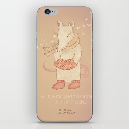 Christmas creatures- The Little Mouse iPhone & iPod Skin