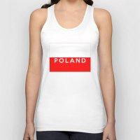 poland Tank Tops featuring Poland country flag name text by tony tudor