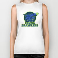 monster hunter Biker Tanks featuring Monster Hunter All Stars - The Tanzia Brawlers by Bleached ink