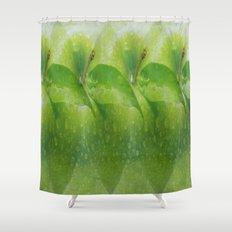 Green apple hallucination Shower Curtain