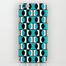 Lens pattern (turquoise) iPhone & iPod Skin