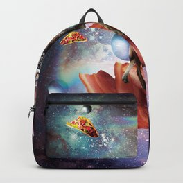 Space Cat Riding Wolf Unicorn - Bacon & Taco Backpack