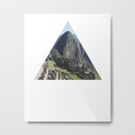 Machu Picchu - Geometric Photography Metal Print