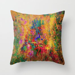Flowers: Multi Color Daisies Throw Pillow