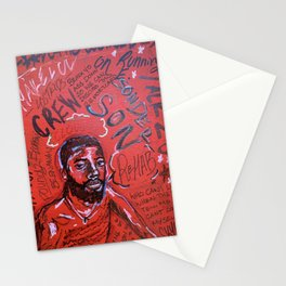 sonderson,brent faiyaz,poster,art,wall art,decor,music,rnb,lyrics,colourful,colorful,cool,dope,post Stationery Cards