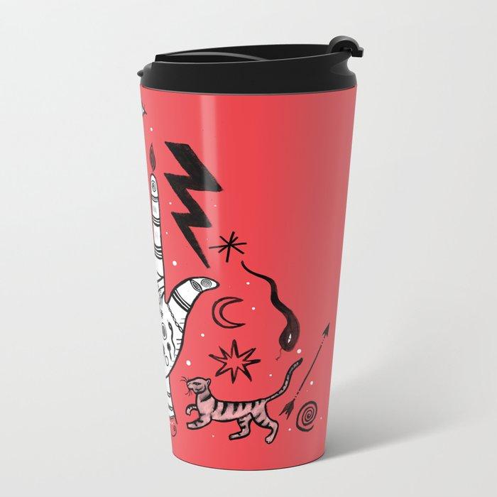 Spiritual Hand Metal Travel Mug