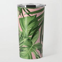 Tropical Jungle Leaves Pattern #11 #tropical #decor #art #society6 Travel Mug