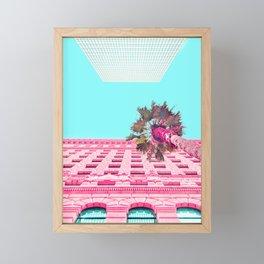 LA Palm Tree Look Up Framed Mini Art Print